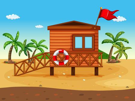 beach hut: A lifeguards house at the seashore