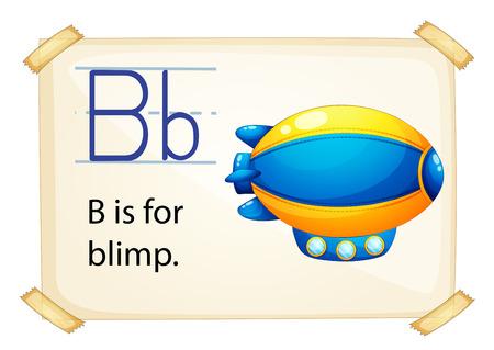 blimp: Illustration of letter B is for blimp