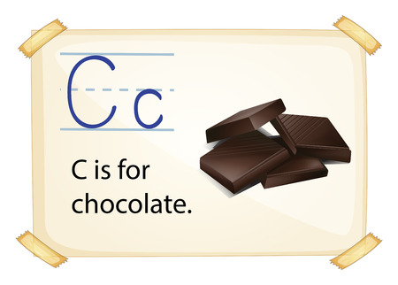 phonetic: Illustration of alphabet C is for chocolate Illustration