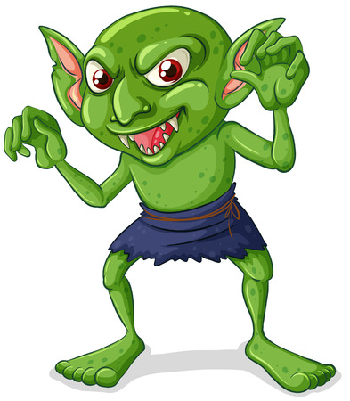 Illustration of a green goblin