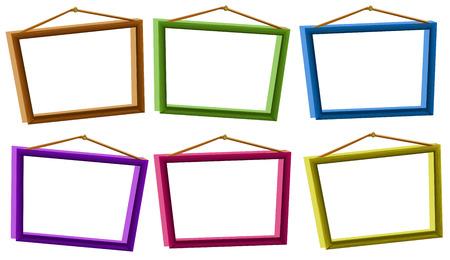 photo frames: Illustration of different color photo frames