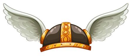 pokrývka hlavy: Pokrývky hlavy Viking je na bílém pozadí
