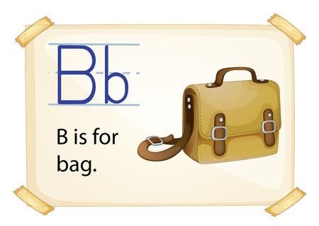 phonetic: Illustration of alphabet B is for bag Illustration
