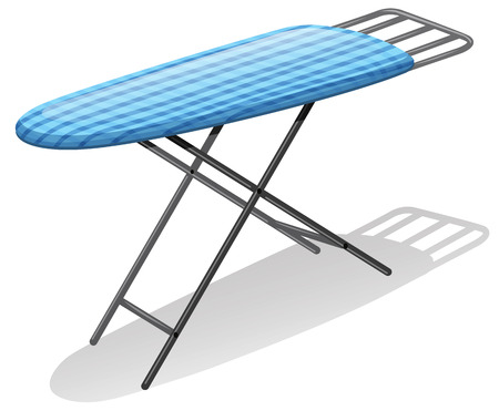 Illustration of a close up ironboard Vector