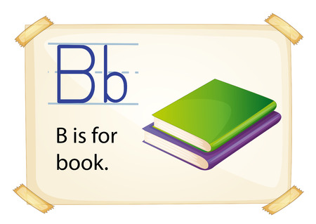 phonetic: Illustration of alphabet B is for book