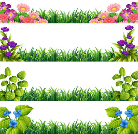 Illustration of different sings of flower decoration Vector