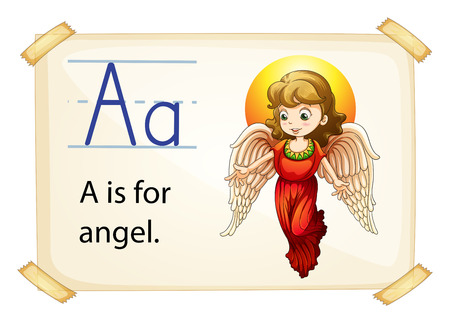 phonetic: Illustration of alphabet A is for angel