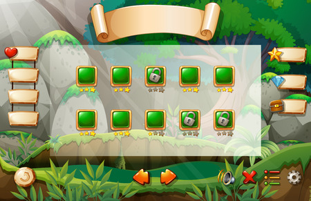A game with three unlocked levels