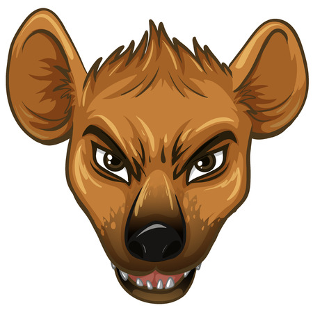 cruel: Illustration of a face of a hyena