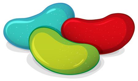frijoles rojos: Ilustración de cierre arriba caramelos de goma