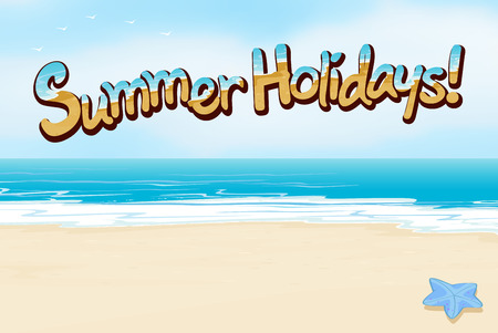 s e o: A summer holiday template at the beach Illustration