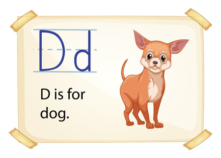 letters clipart: Poster of an alphaber D