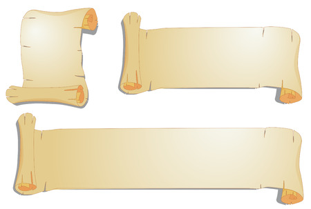 rolling paper: Illustration of three different sizes of rolling paper Illustration