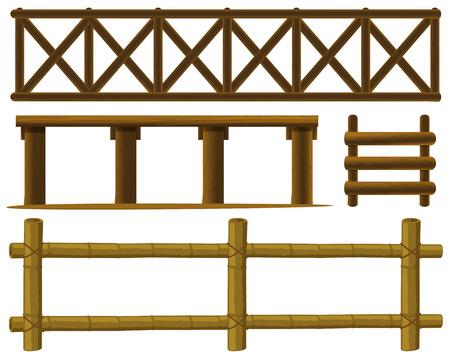 fence: Illustration of different design of fences