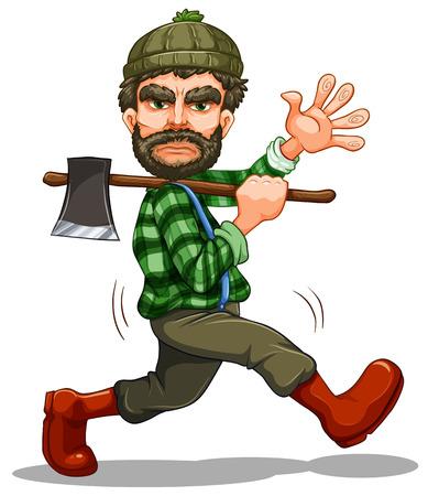 agriculture wallpaper: Illustration of a single lumberjack