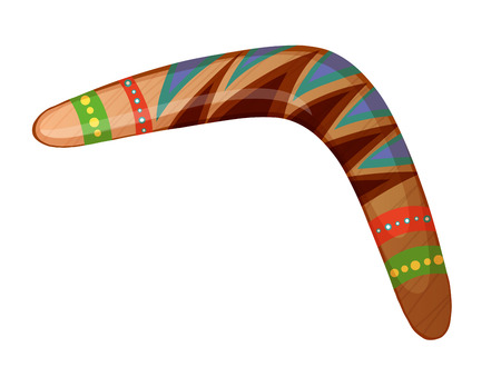 A boomerang on a white background