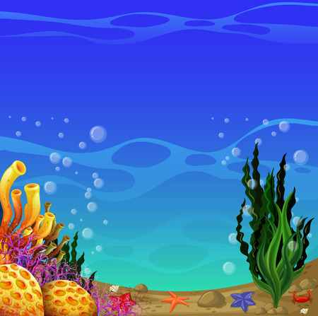 Illustration of a scene of underwater Illustration