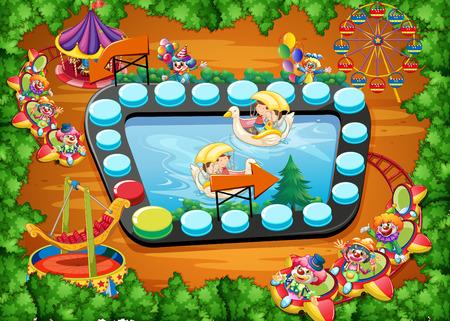 amusement park rides: Boardgame with theme park design