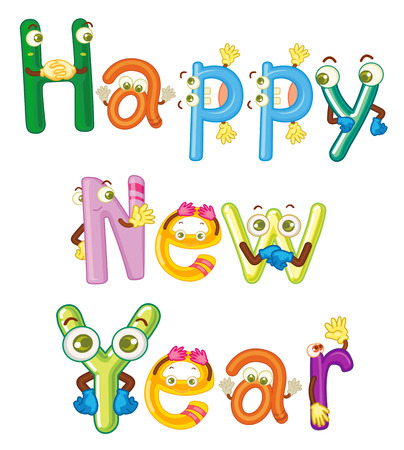 new year poster: Illustration of a happy new year poster