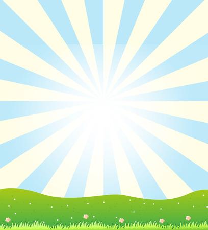 shinning: Illustration of a sun shinning Illustration