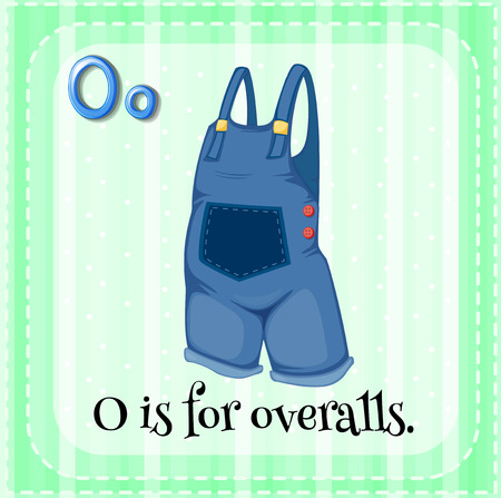 which: A letter O which stands for overalls