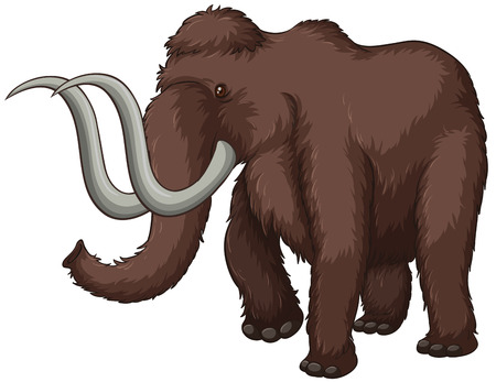 wooly mammoth: Illustration of a giant elephant
