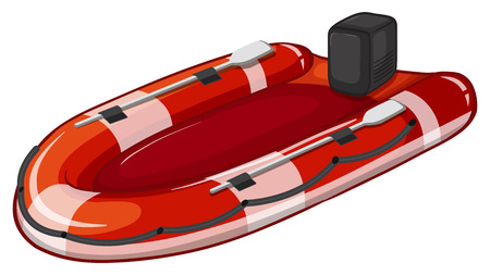 Illustration of a close up lifeboat