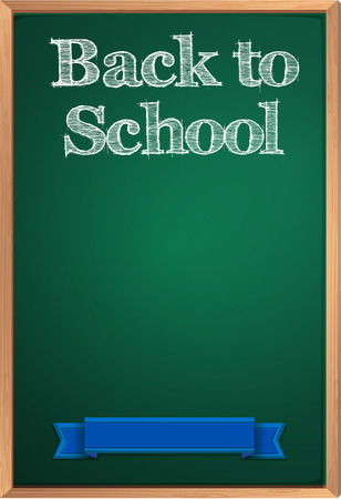 wording: Illustration of a sign saying back to school