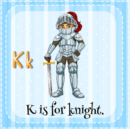 knight: A letter K which stands for knight