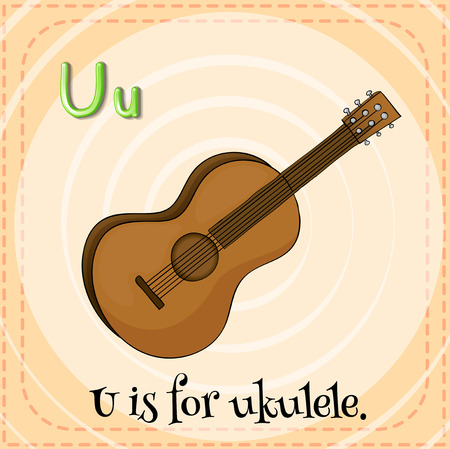 ukulele: Illustration of an alphabet U is for ukulele Illustration