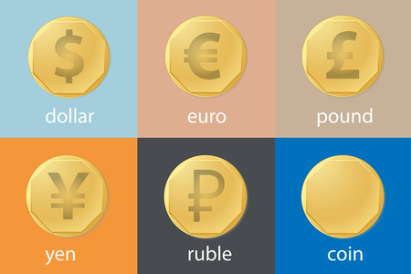 Illustration of currency from different countries Vector