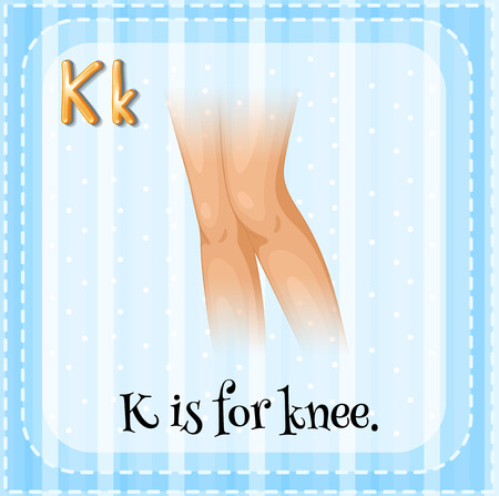 Illustration of an alphabet K is for knee Vector