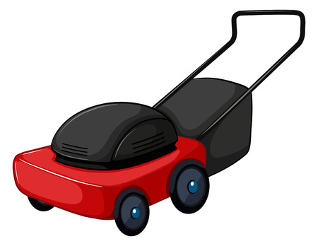 lawnmower: Illustration of a close up lawnmower Illustration