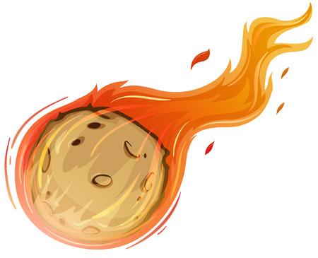 Illustration of a falling comet Illustration
