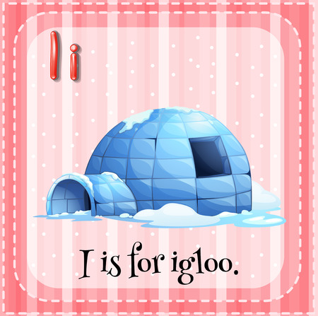 northpole: Illustration of an alphabet I is for igloo Illustration