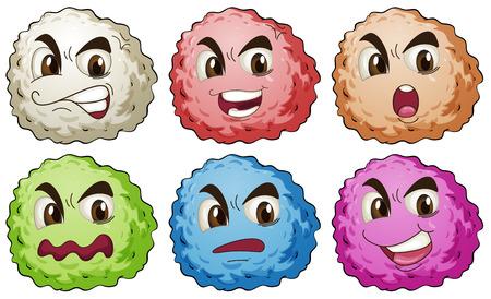 expression visage: Illustration de l'expression faciale r�gl� Illustration