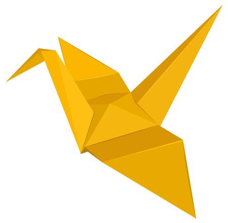 paper fold: Illustration of a bird origami Illustration