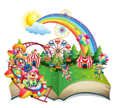 roller coaster: Illustration of a book of carnival