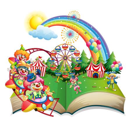 payaso: Ilustraci�n de un libro de carnaval Vectores