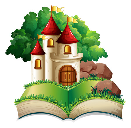 popup: Illustration of a popup book of a castle