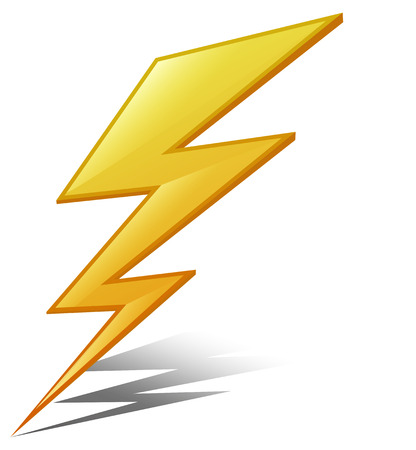 Illustratie van een blikseminslag