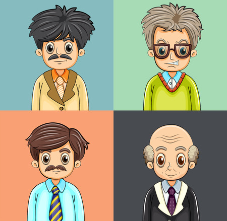 grown up: Illustration of a set of grown up people Illustration