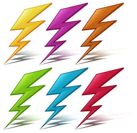 struck: Illustration of many color lightening