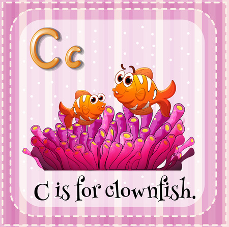 clownfish: Illustration of an alphabet C is for clownfish