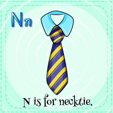 big and small: A letter N for necktie