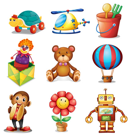 toys clipart: Illustration of different kind of toys