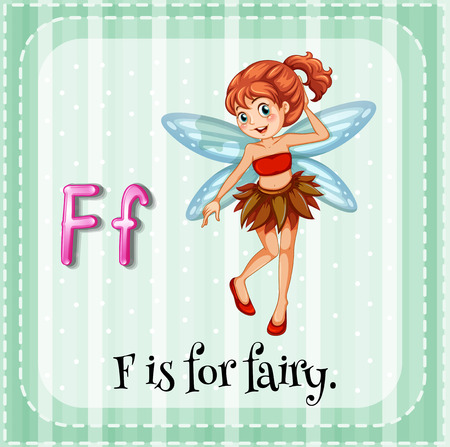 A letter F which stands for fairy Vector