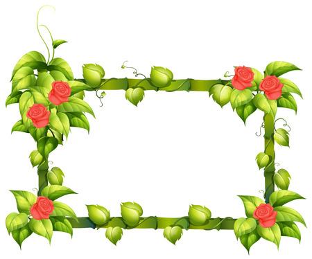 enhancement: A floral border design on a white background Illustration