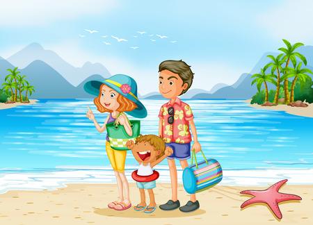 Una familia en la playa