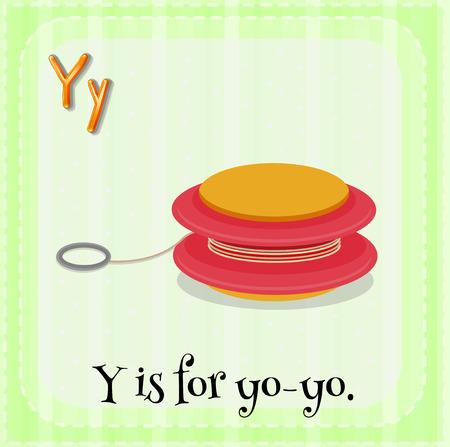 yoyo: Illustration of a letter y is for yo-yo